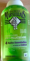 Shampooing anti pellliculaire 4 huiles essentielles et extrait de cédrat cheveux gras - Produit