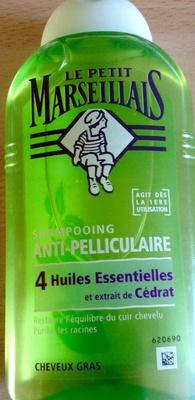 Shampooing anti pellliculaire 4 huiles essentielles et extrait de cédrat cheveux gras - Product