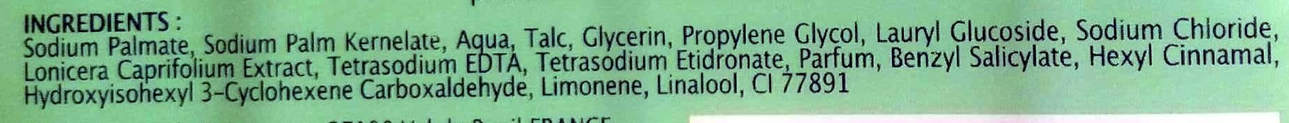 savon extra doux Chevrefeuille - Ingredients - en