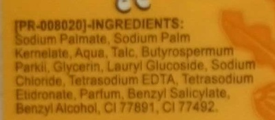Savon soin au Beurre de Karité - Ingredients