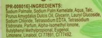 Savon soin à l'huile d'amande douce - Ingrédients - fr