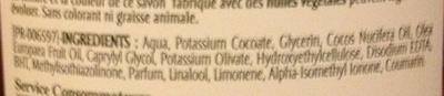 Pur Savon Liquide à l'huile d'olive - Ingrédients