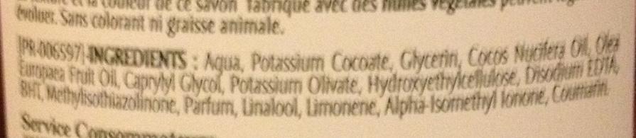 Pur Savon Liquide à l'huile d'olive - Ingredients - fr