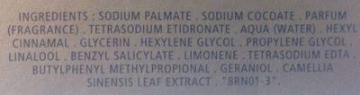 Savons parfumés Thé vert - Ingredients