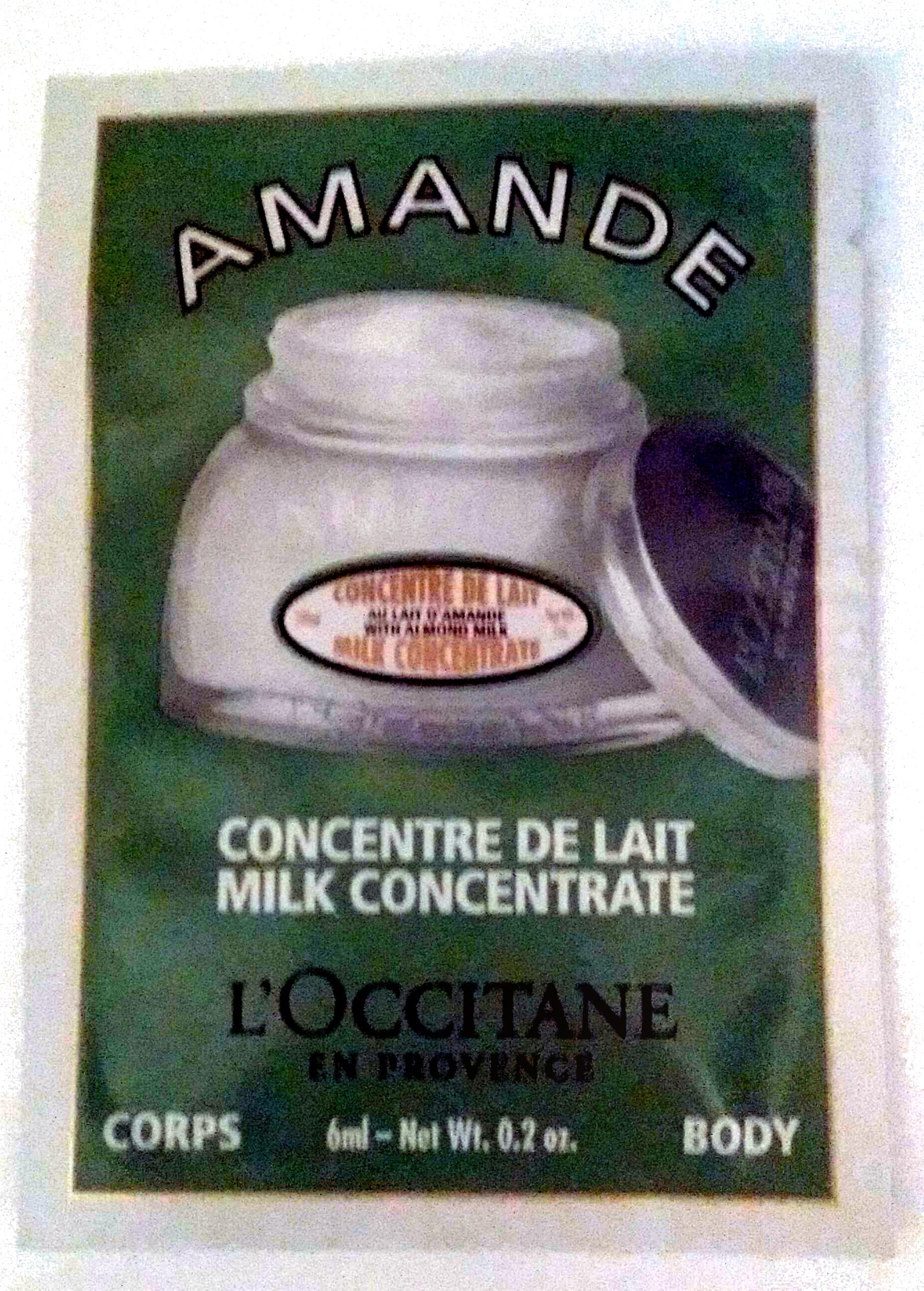 Amande Concentré de Lait Corps - Продукт - fr