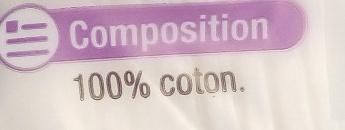 Coton double face à démaquiller - Ingrédients - fr