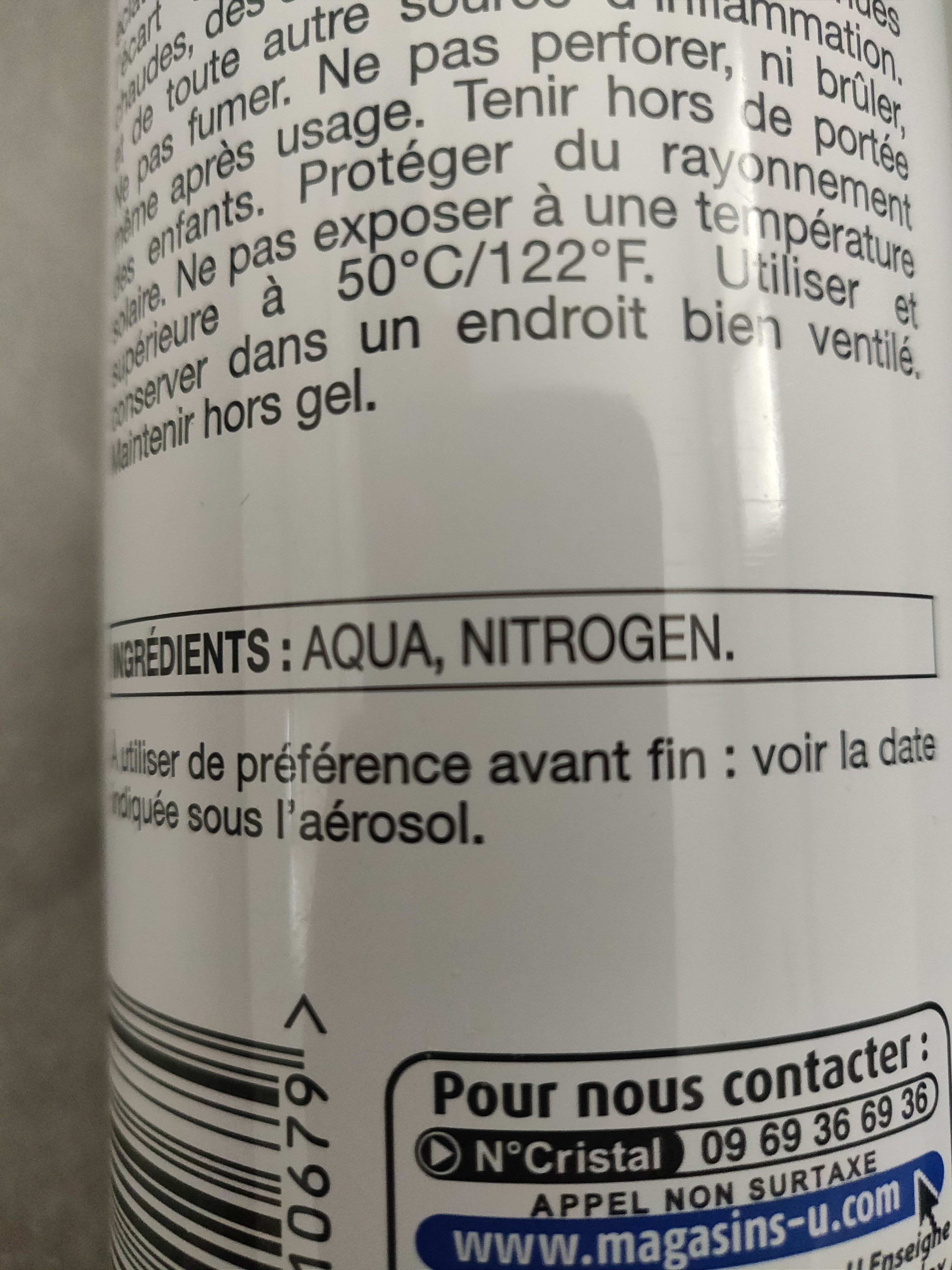 brume eau pure - Ingredients - fr