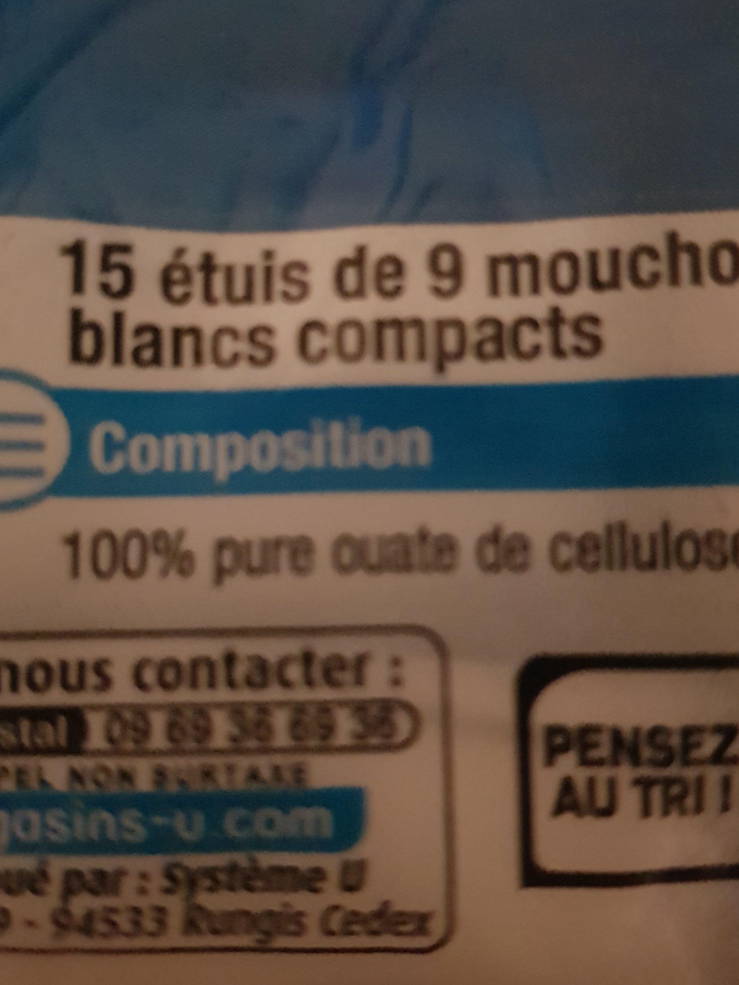 Mouchoirs U, 15 étuis Compacts De - Ingredients - fr
