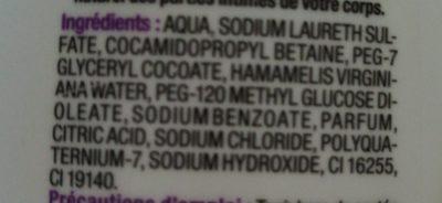 Gel De Toilette Intime U, - Ingredients