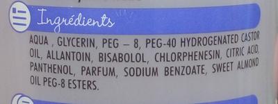 Eau nettoyante - Ingredients - fr