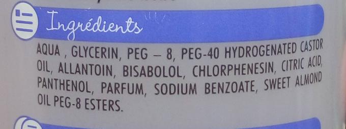 Eau nettoyante - Ingredients