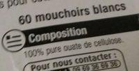 Mouchoir En Boite X80 - Ingredients
