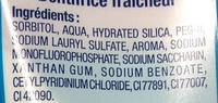 Dentifrice Fraîcheur - Ingredients - fr