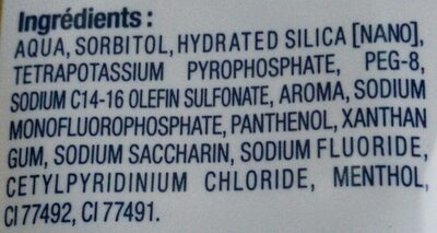 Dentifrice Soin Complet - Ingredients - fr