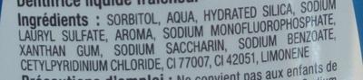 Liquide Fraîcheur 2 en 1 - Ingrédients