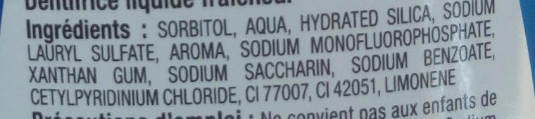 Liquide Fraîcheur 2 en 1 - Ingredients - fr