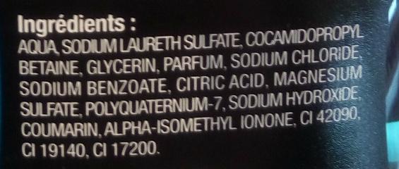 Homme gel douche détente parfum menthe et cèdre vanillé - Ingredients