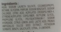 Lait de douche hydratant aux extraits naturels fleur d'amandier citron - Ingredients - fr