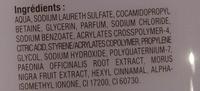 Lait de douche hydratant aux extraits naturels mûre pivoine - Ingredients