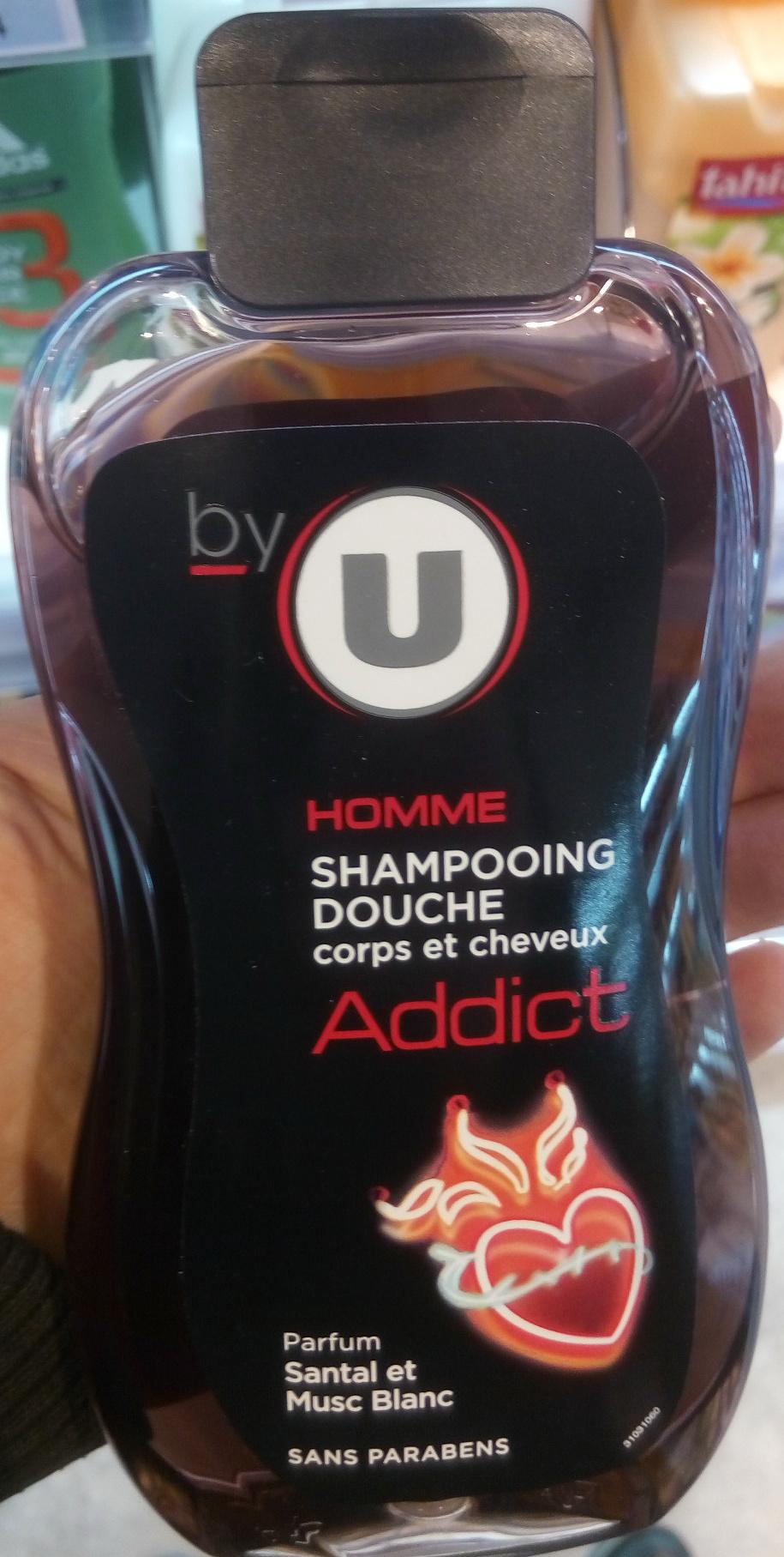 Homme shampooing douche corps et cheveux addict parfum santal et musc blanc - Product - fr