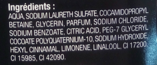Homme shampooing douche corps et cheveux addict parfum santal et musc blanc - Ingredients - fr