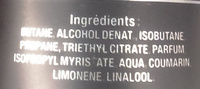 Déodorant parfumé so sexy - Ingredients