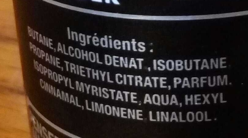 Zen Spirit - Déodorant parfumé - Ingredients