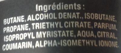 Déodorant parfumé Boost Sport - Ingrédients