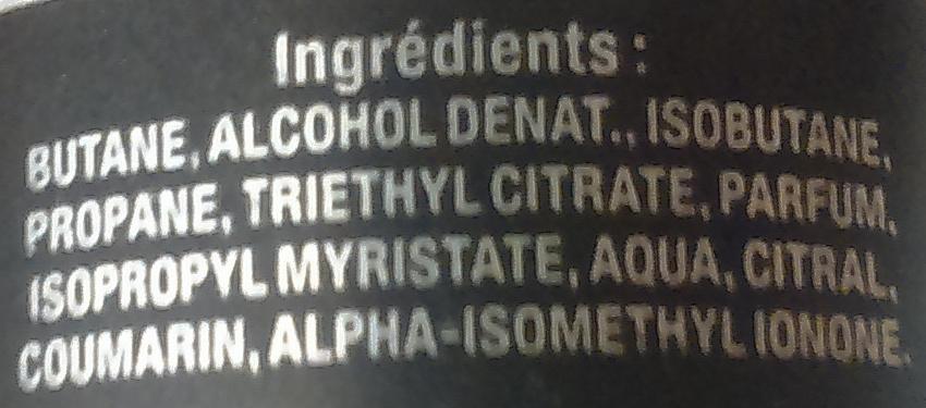 Déodorant parfumé Boost Sport - Ingredients