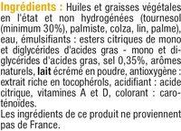 Margarine allégée de cuisson au tournesol 60% de matière grasse - Ingredients - fr