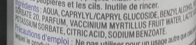 Eau micellaire visage & yeux à l'extrait de myrtille - Ingredients