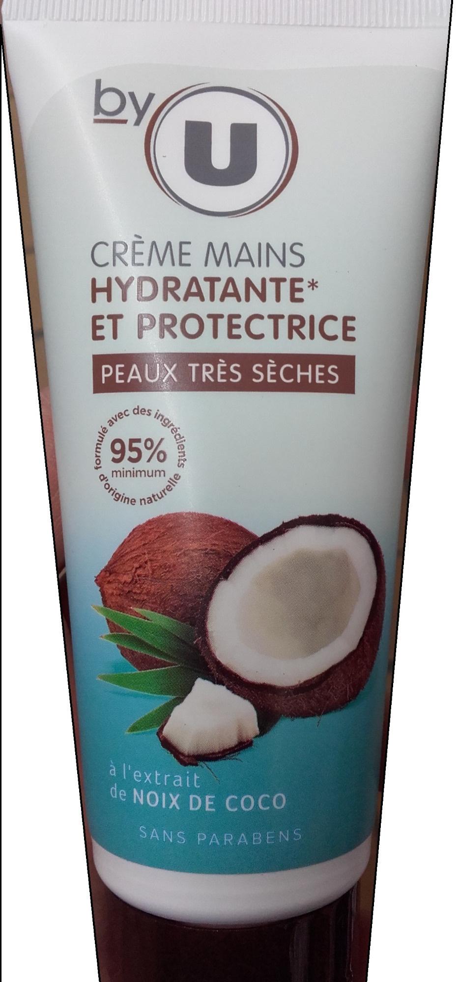 Crème mains hydratante et protectrice à l'extrait de noix de coco - Produit