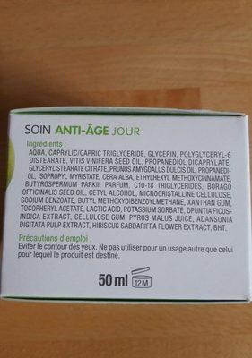 Soin anti-âge jour - Ingrédients - fr