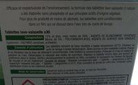 Tablettes lave-vaisselle - Ingredients