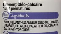 Liniment oléo-calcaire - Ingredients - fr