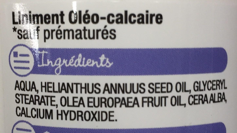 Liniment oléo-calcaire - Ingredients