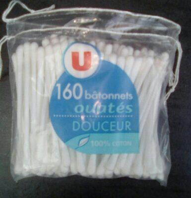 160 bâtonnets ouatés douceur 100% coton - Produit