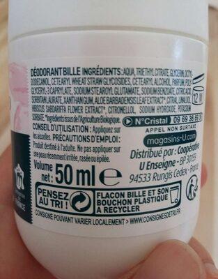 Déodorant - Ingredients