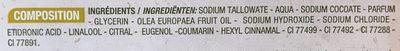 Savon de Marseille Huile d'Olive - Ingrédients
