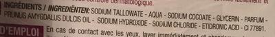 Savon dermatologique visage & corps à l'huile d'amande douce - Ingredients - fr