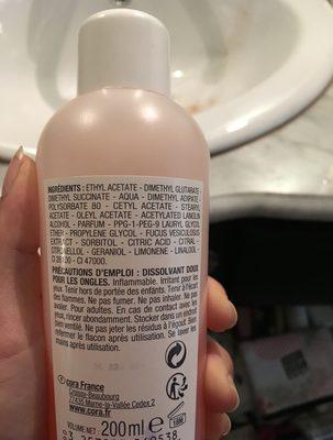 Dissolvant Doux - Ingredients