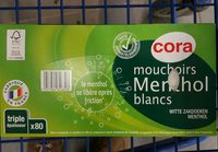 Mouchoirs Menthol Blancs - Product