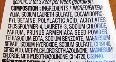 Gel douche gommant à la poudre de noyaux d'abricots - Ingredients - fr