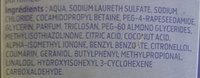 Crème lavante peaux sensibles - Ingredients