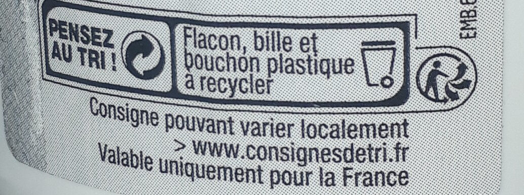 deobille - Recycling instructions and/or packaging information - fr