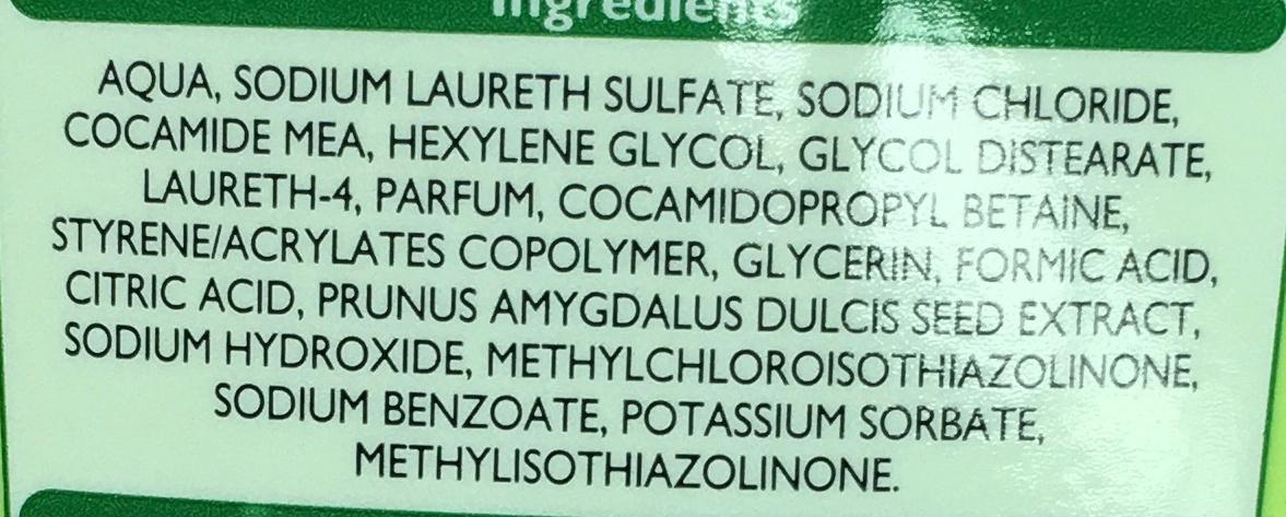 Shampooing très doux 2 en 1 - Ingredients - fr