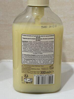 Crème lavante à l'extrait de miel et de lait - Product - fr