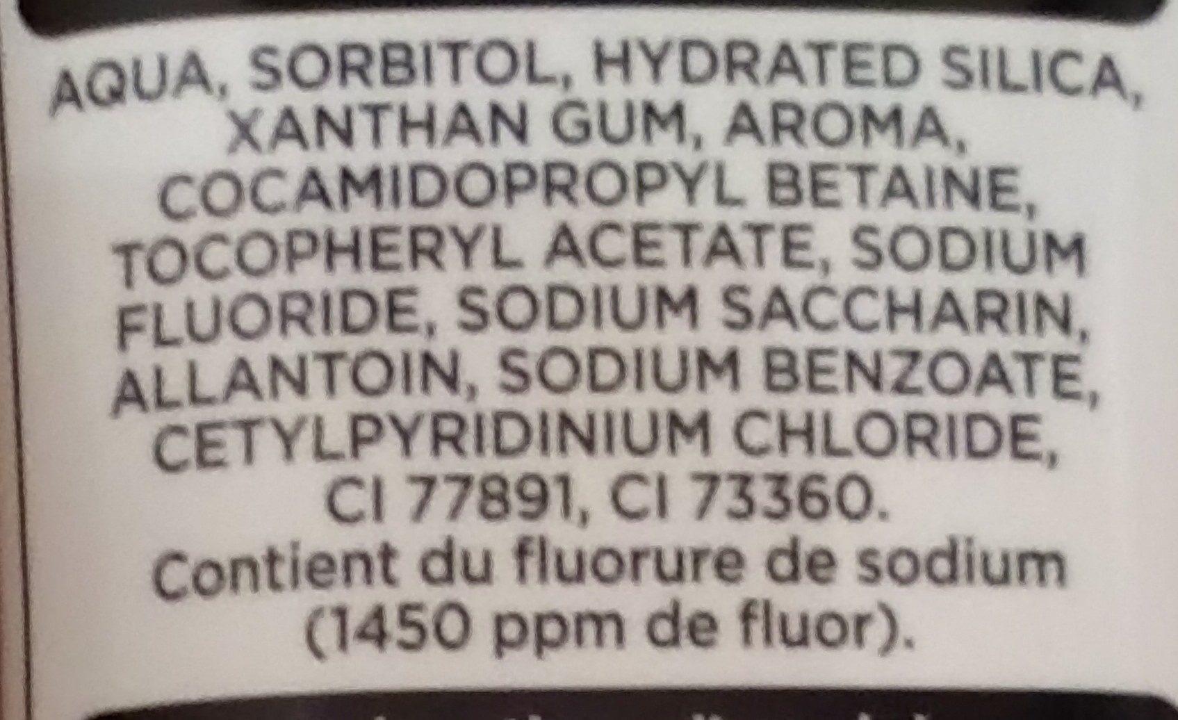 Dentifrice soin des gencives - Ingrédients - fr