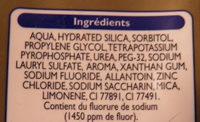 Dentifrice Soin Complet Leader Price - Ingredients - fr