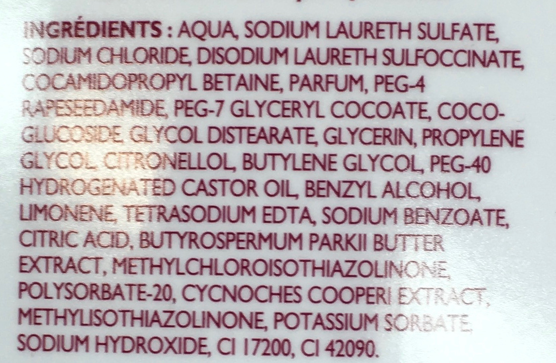Bain moussant douceur & soin - Ingredients - fr